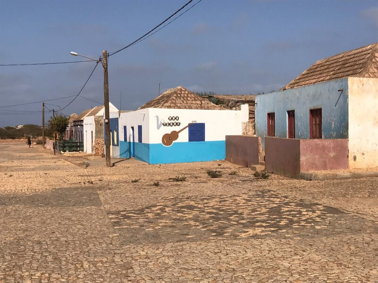 beautifully coloured colonial houses on maio