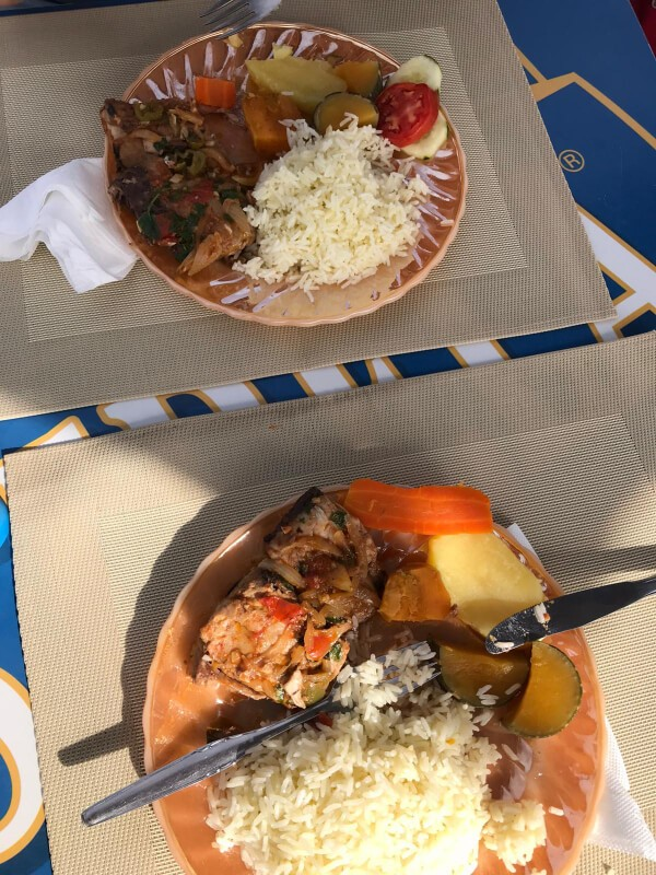 stop for home cooked food on the beach at villa do maio