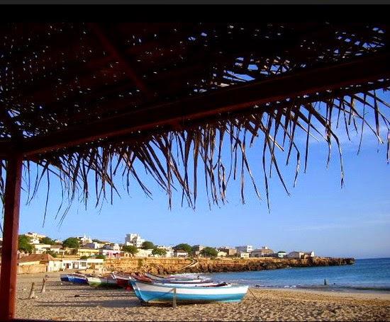 Beautiful town beach of Vila do Maio