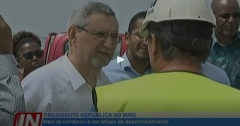 president of the republic of cabo verde : maio has already begun to show signs of development