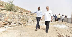 president cabo verde impressed by the island of maio