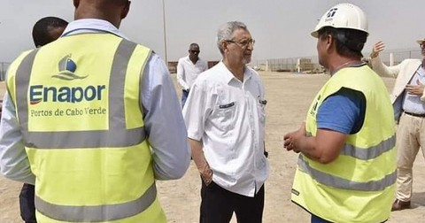 president of cabo verde satisfied with the progress of the requalification works in the port of maio