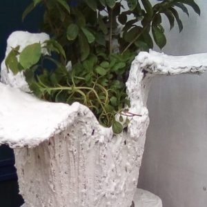 maio locally made concrete large garden planter by crafts people view left side