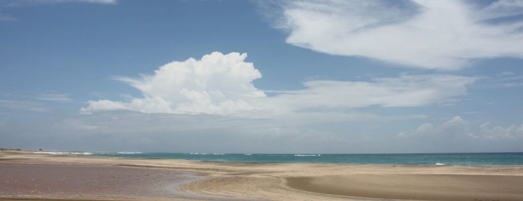 tourism beautful sandy maio beach looking out to sea