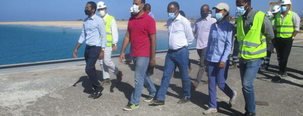 cape verdean prime minister ulisses correia e silva visiting maio port