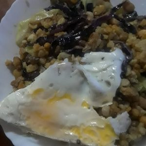 casablanca cafe eating authentic cachupa meal in morro, ilha do maio, cabo verde